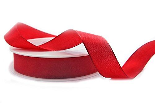 Dekoband TAFTBAND ROT 50 m x 25 mm (Rolle) Geschenkband Taftband 2,5 cm Tischdeko Hochzeit Ostern Schleifenband Visco Taft Kartengestaltung Basteln