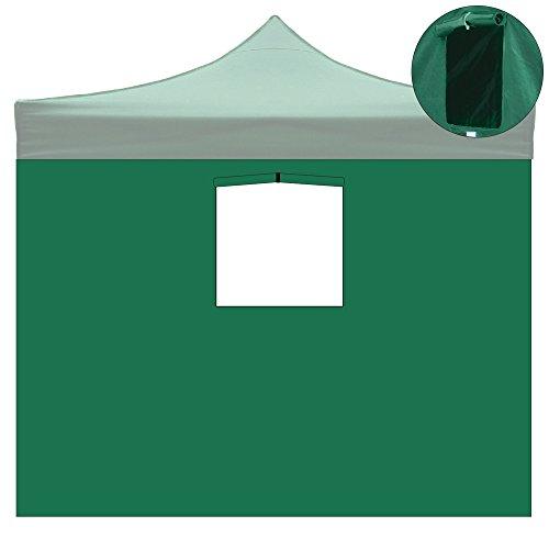 Telo laterale con finestra gazebo 3x3mt tessuto oxford 600d impermeabile 9004/3