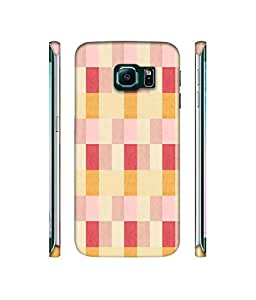 NattyCase Rectangle Pattern 3D Printed Hard Back Case Cover for Samsung Galaxy S6 Edge