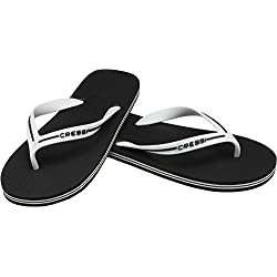 Cressi Beach Bahamas Chanclas Flip Flops, Unisex Adulto, Negro, 37/38