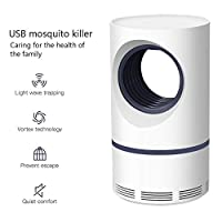 Womdee Mosquito Killer Lamp[2019 Newest], USB Photocatalyst Bug Zapper, Safe Chemical-Free UV Physical Mosquito Lamp, Ultra-silence, Strong Attraction Zapper For Indoor And Camping