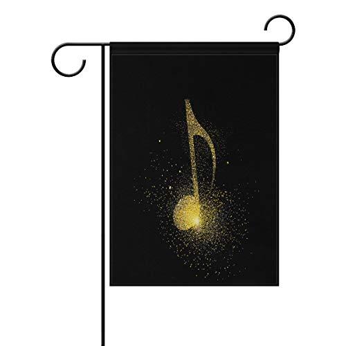 Gartenflagge mit leuchtenden Musik-Symbolen, 30,5 x 45,7 cm, Banner, doppelseitig, für Rasen und Hof, Außendekoration, Polyester, Image 591, 12x18(in)