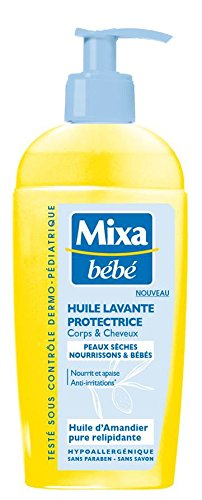 Mixa Bébé Huile Lavante Protectrice 250 ml - Lot de 3