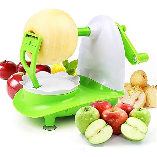 NOBGP Apple Peeler Corer Slicer Machine mit Vakuum-Sauklein-Basis drehenden Spiralierer für Countertop mit Edelstahlblättern für Apples Fruchtzusatz oder Kartoffel -