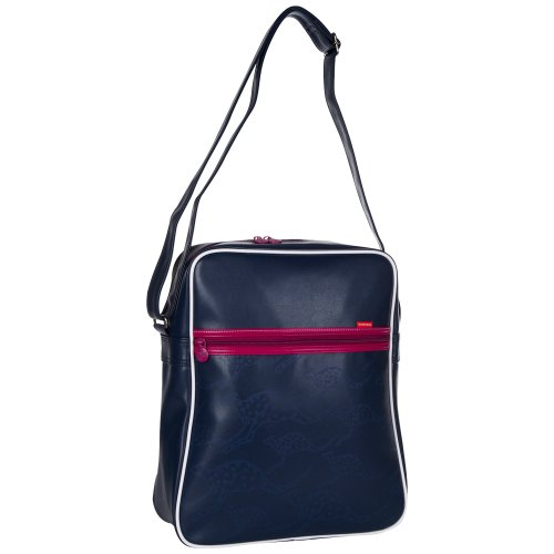 Chiemsee 5040606 Far Umhängetasche, Retro Bag, coole Tasche im Retrodesign, schöne kompakteTasche mit Känguruh Druck, unisex, in verschiedenen Farben erhältlich, 38 x 32 x 12 cm Navy