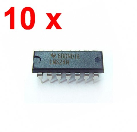 Vivian 10pcs LM324N LM324 Low Power Quad Op Amp DIP-14 - Op Quad