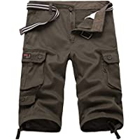 NiSeng Bermuda Cargo Shorts 3/4 Pantaloncini con Tasconi Laterali - Uomo