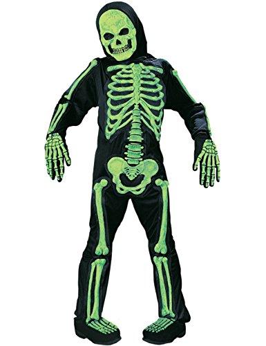 Skelebones Child Skeleton Green Large Fancy Dress