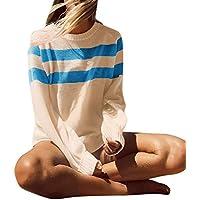 Hanomes Damen Mäntel Plus Size Womens Long Sleeve Fashion T-Shirt Tops Stripe Knitting Sweater Blouse preisvergleich bei billige-tabletten.eu