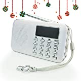 PRUNUS L-218AM-White FM AM Radio mit Micro TF Card USB MP3, Weiß
