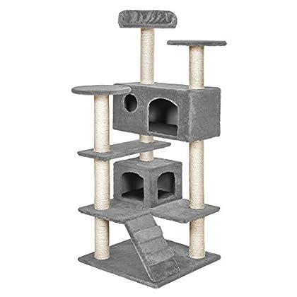 TecTake Rascador para Gatos Árbol para Gatos Trepar Sisal Juguetes (Gris | no. 400574)