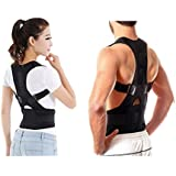 QERINKLE® Unisex Magnetic Back Brace Posture Corrector Therapy Shoulder Belt for Lower and Upper Back Pain Relief,posture corrector for women,posture belt for men,back support belt for back pain (FREE SIZE)