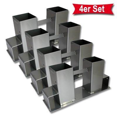 4er Set Holz Stapelhilfe Kamin Brennholz Kaminholz Holzstapelhalter Kaminholzhalter Kaminholzregal