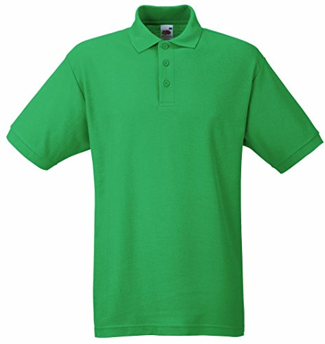 Fruit of the Loom Herren Poloshirt Kelly Green