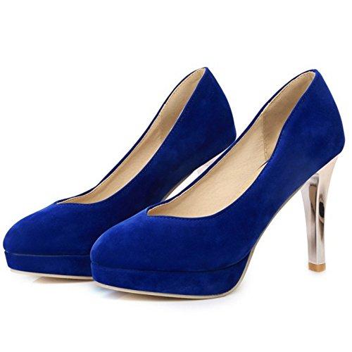 Conique Taoffen Basse Western Chaussures Enfiler Femme 505 Bleu wqRT4ExT