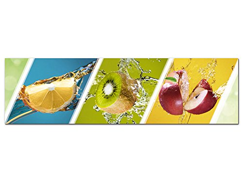 GRAZDesign Küchenbilder Küche türkis Petrol grün, Acrylglasbild, Bilder aus Acryl Glas XXL, Bar, Dekoration für Cocktailbar / 180x50cm