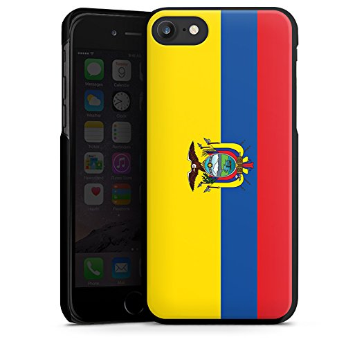 Apple iPhone X Silikon Hülle Case Schutzhülle Ecuador Flagge Fußball Hard Case schwarz