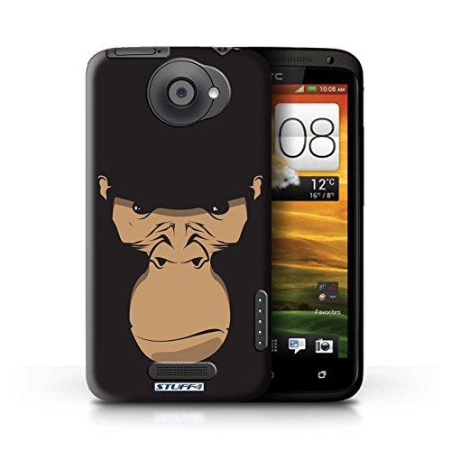 Kobalt® Imprimé Etui / Coque pour HTC One X / Chat blanc conception / Série Museaux Gorille/Chimpanzé/Singe