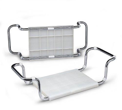 Aris 2104 - Badewannensitz - Verchromte Stahlstruktur Und Polypropylen - Made In Italien - Farbe Weiß