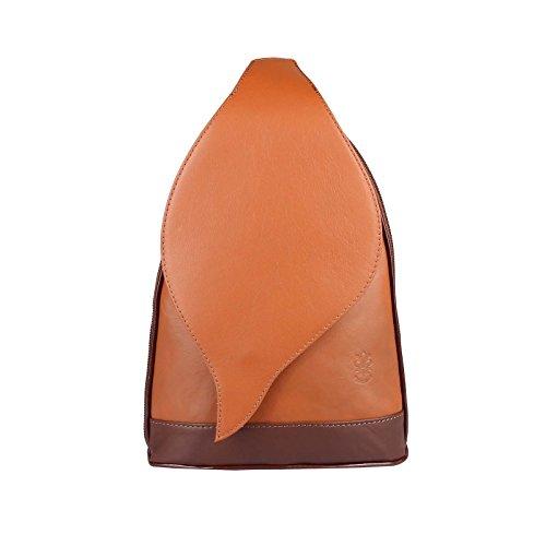 OBC Only-Beautiful-Couture , Sac à main porté au dos pour femme noir noir/rouge ca.: 22x36x10 cm (BxHxT) cognac/marron