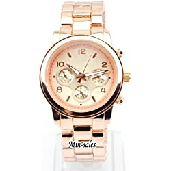 AccessoriesBySej - Designer Style Ladies Womens Round Bracelet Fashion Watch Rose. Presented in a FREE Luxury Gift Pouch. 8 variations available from 2 models.