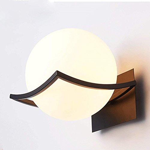 WOZUIMEI Wandleuchte Moderne Minimalistische Kreative Schlafzimmer-Nachttisch-Runde Eisen-Schmiedeeisen-Art-Hotel-Wandlampe, EIN (Nachttisch Runde Eisen)