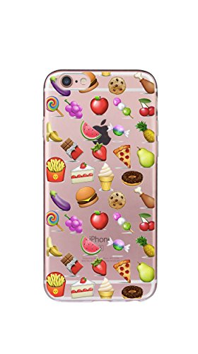 Case Cover Per iphone 6 6S 4.7 pollici Trasparente TPU Gel Silicone Bumper Protettivo Skin Custodia Ultra-sottile Flessibile morbido Protettiva Shell(ananas) cibo