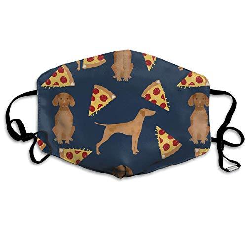 Masken, Masken für Erwachsene, Vizsla Pizza Reusable Anti Dust Face Mouth Cover Mask Protective Breath Healthy Safety (Gas Maske Kleinkinder)