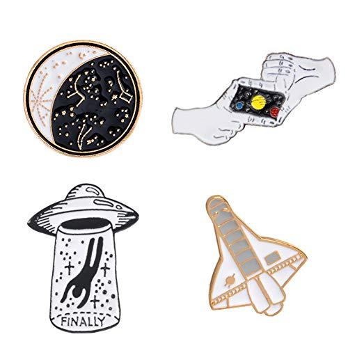 ! 2-5pcs / Set Regenbogen Kaktus Schädel Skelett Zitrone Nette Karikatur Harte Emaille Pin Badge Brosche ()