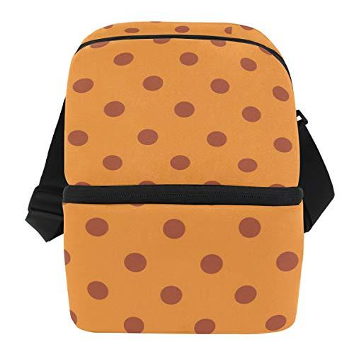 COOSUN - Bolsa térmica para el almuerzo con diseño de lunares, impermeable, de neopreno, con cremallera, ideal para el trabajo al aire libre, viajes, picnic