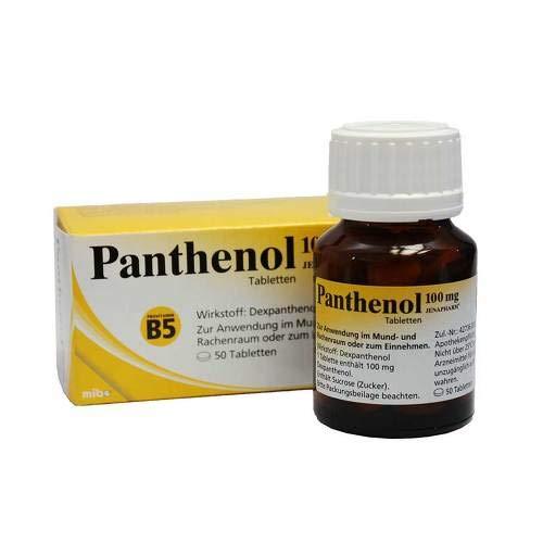 Panthenol 100 mg Jenaphar 50 stk -