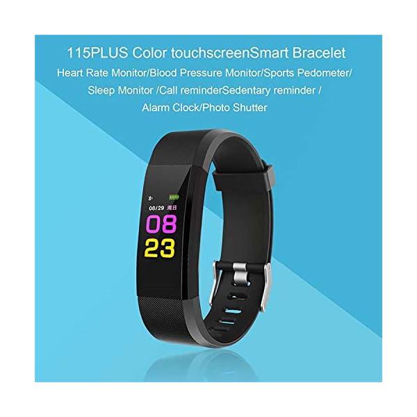 Maju Smartfit Fitness Tracker - Pulsera de actividad para fitness, con corazón, color rojo 4
