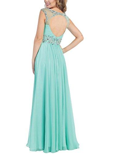 Promworld Damen A-Linie Kleid Blau Königsblau Mint