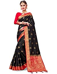 9fa018b0fe Sarees for Women Banarasi Art Silk Woven Saree l Indian Wedding Gift Sari  with Unstitched Blouse