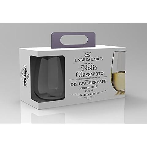 Vidrio resistente a los impactos Nolia vino y copa de cóctel (se puede lavar en lavavajillas)