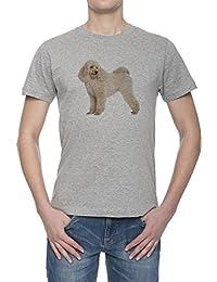 Perro Del Caniche Camiseta Para Hombre Gris Todos Los Tamaños | Men's Grey T-Shirt Top All Sizes