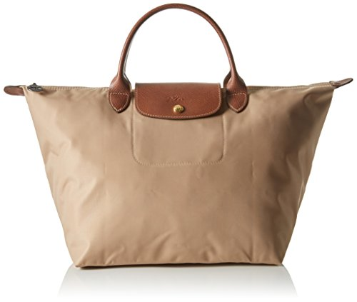 Longchamp - Le Pliage Medium, Borsa a mano Donna Beige (Beige)