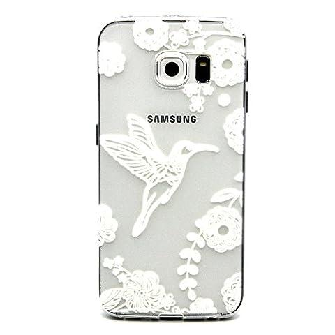 BONROY® Coque pour Samsung Galaxy S6 Edge,Housse en cuir pour Samsung Galaxy S6 Edge,imprimé étui en cuir PU Cuir Flip Magnétique Portefeuille Etui Housse de Protection Coque Étui Case Cover avec Stand Support Avec des Cartes de Crédit Slot et Fonction Support pour Samsung Galaxy S6 Edge