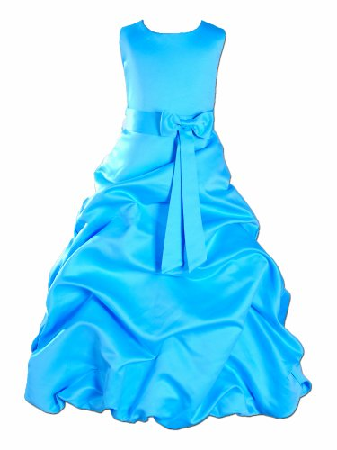 Cinda MŠdchen Brautjungfer / Heilige Kommunion Kleid Lichtblau 152-158 (Pagent Kleider Für Kinder)