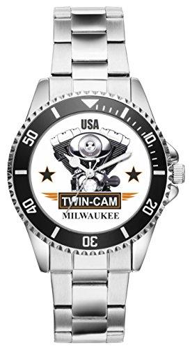 Geschenk für Biker Chopper Motorrad USA Fans Fahrer Kiesenberg Uhr 1163