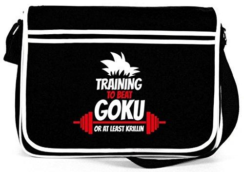 Training To Beat Goku Or At Least Krillin, Retro Messenger Bag Kuriertasche Umhängetasche Schwarz