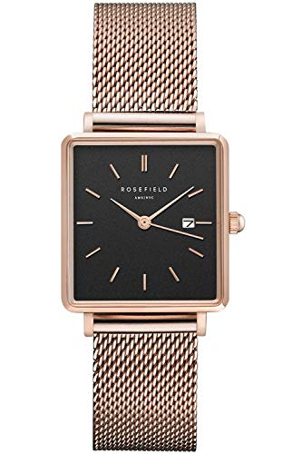 f501dc7cf69c Rosefield Boxy Womens Analog Quartz Watch with Stainless Steel Gold Plated  Bracelet QBMR-Q05