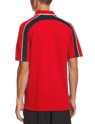 Prostar Magnetverschluss unisex-Erwachsene Polo Shirt Scharlachrot / Schwarz / Weiß