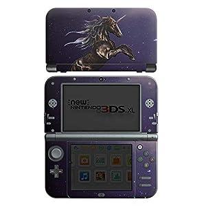 DeinDesign Skin kompatibel mit Nintendo New 3DS XL Aufkleber Sticker Folie Einhorn Unicorn Schwarz Pferd