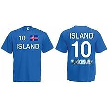 Island Trikot mit Wunschname und Wunschnummer EM 2016