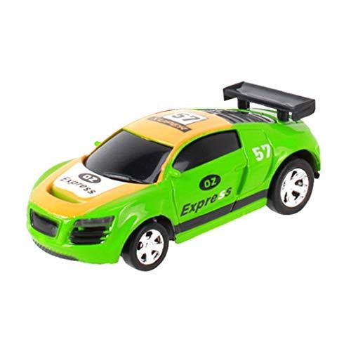 Lindahaot 20 km/h kann Mini-Wireless-RC Autoradio mit Fernbedienung Micro Racing Car Vehicle Modell Kinder Spielzeug Gelbgrün