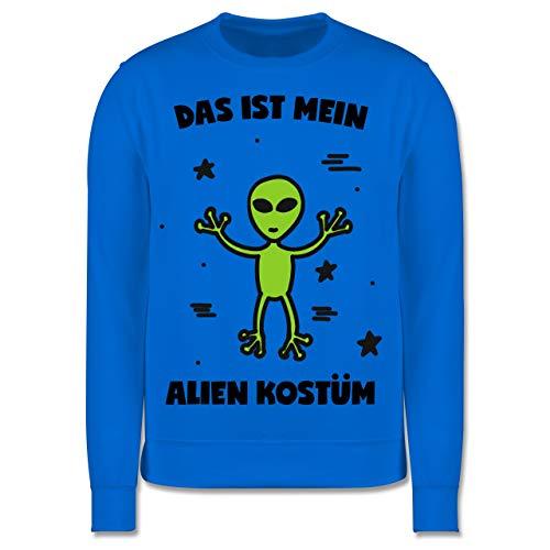 Karneval & Fasching Kinder - Das ist Mein Alien Kostüm - 7-8 Jahre (128) - Himmelblau - JH030K - Kinder Pullover