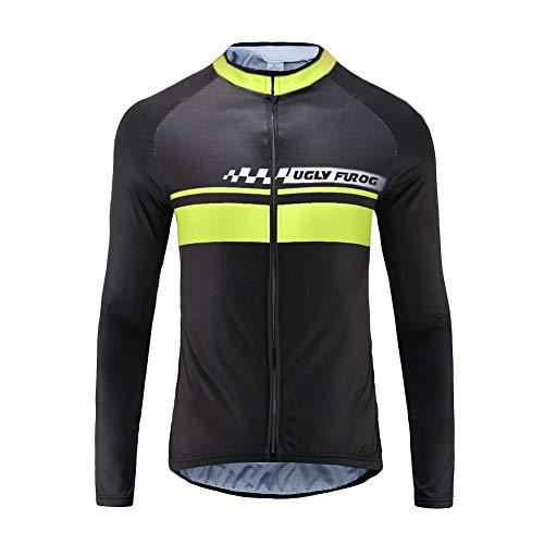 Uglyfrog Klassik Vlies Fahrradtrikot Fahrradbekleidung Winter Herren Thermo Langarmtrikot Radfahren Jersey Triathlon Rennrad Trikots & Shirts Kleidung
