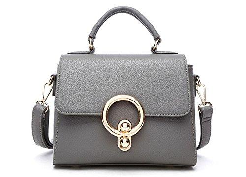 Xinmaoyuan Borse donna in vera pelle borse donna copertura Tipo Portatile obliqui di spallamento pacchetto trasversale,Nero Grigio
