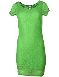 Vero Moda Damen Kleid Partykleid Spitzenkleid Kleid mit Spitze Mini Sommer HOLLY SS Short Dress Weiß